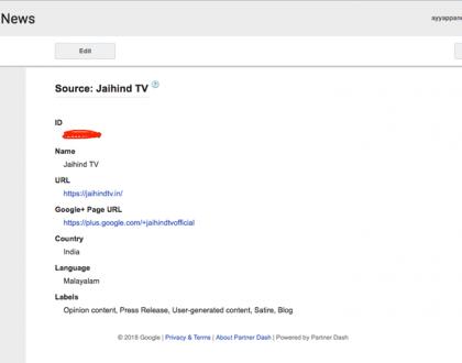 Jai Hind TV Google News